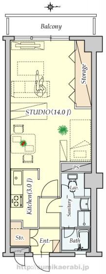 207号室レイアウト参考図